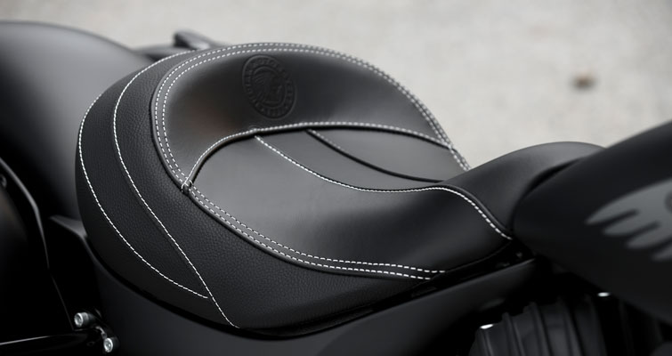 Black Leather Solo Saddle